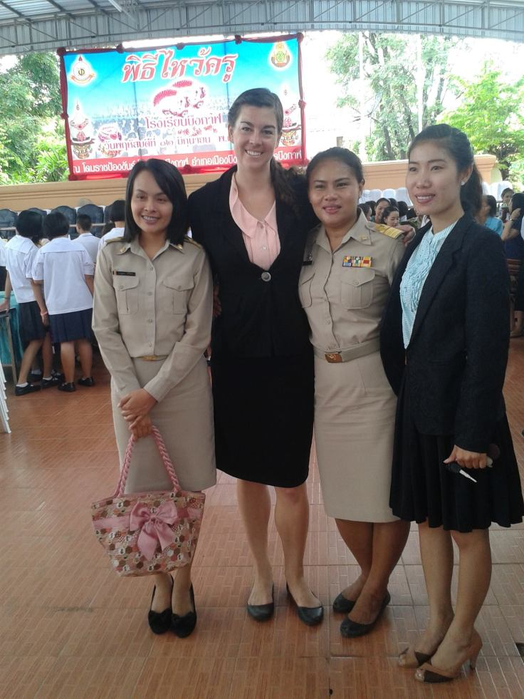 English and Thai teachers in formal wear