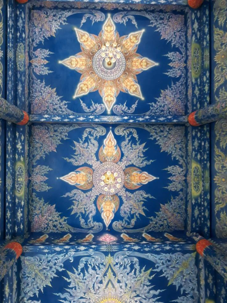 blue temple ceiling
